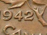 1942 CENT ZOELL R65B DOUBLED 42 AVERAGE CONDITION