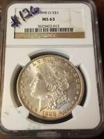 NGC MINT STATE 63 1898 O MORGAN DOLLAR 3623422012 CERTIFIED  STRONG STRIKE