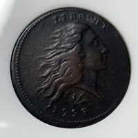 1793 WREATH CENT ANACS NET VF20 EF DETAILS