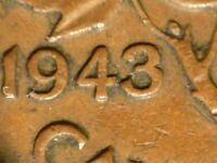 1943 CENT DOUBLED 43 AVERAGE CONDITION UNLISTED IN ZOELL CATALOGUES