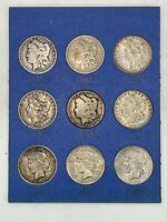 UNITED STATES MINT MORGAN DOLLAR 90 SILVER COINS [9] - 1880, 1882, 1883, 1891