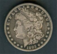 1893 CC MORGAN DOLLAR VG DETAIL