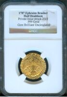 BRASHER DOUBLOON 2011 PRIVATE ISSUE STRUCK IN .999 GOLD NGC