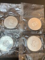 4 1964 CANADIAN SILVER DOLLARS