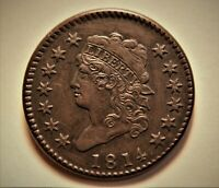 1814 CLASSIC HEAD LARGE ONE CENT FROM COLLECTION