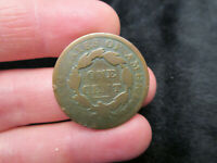 CIRCULATED 1830 UNITED STATES AMERICA MATRON HEAD LARGE CENT PENNY COPPER COIN