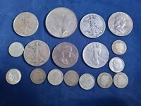 $5.00 FACE VALUE 90  JUNK SILVER LOT WITH 1922 D PEACE SILVE