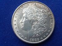 US 1882 MORGAN SILVER DOLLAR AU, PHILADELPHIA MINT
