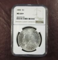 1883 P MORGAN DOLLAR MINT STATE 64 NGC  STUNNING PLUS CONDITION BU GEM  SHIPS FREE