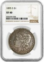 1895 S $1 MORGAN SILVER DOLLAR NGC EXTRA FINE 40  FINE CIRCULATED KEY DATE COIN