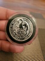 2017 GREAT BRITAIN QUEEN'S BEAST RED DRAGON OF WALES 2 OZ .9999 SILVER COIN