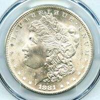 1881-S, MORGAN DOLLAR, PCGS MINT STATE 66, CAC APPROVED