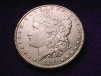 1891-S MORGAN DOLLAR SUPERIOR KEY DATE COIN  40