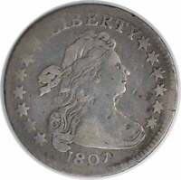1807 BUST SILVER DIME VG UNCERTIFIED