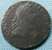 1771 KING GEORGE III BRITISH US COLONIAL HALFPENNY NEAT OLD COPPER COIN NONREGAL