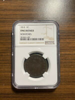 1812-P LARGE DATE CLASSIC HEAD LARGE CENT 1C NGC GENUINE SCRATCHES FINE DETAILS
