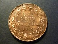 1914 CANADA LARGE CENT MINT STATE WITH FULL RED LUSTRE