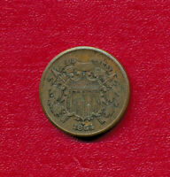 1864 TWO CENT PIECE CHOICE  FINE COIN SHIPS FREE
