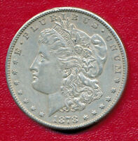 1878-S MORGAN SILVER DOLLAR   ABOUT UNCIRCULATED SHIPS FREE