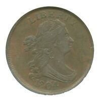 1804 CROSSLET 4, STEMLESS DRAPED BUST HALF CENT, NGC EXTRA FINE 45