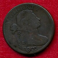1805 DRAPED BUST LARGE COPPER CENT CHOICE FINE SHIPS FREE