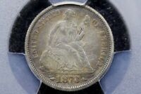 1873 W/ ARROWS SEATED LIBERTY DIME,  CHOICE  FINE, PCGS VF-35