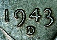 1943 D STEEL CENT STRONG DDO & DDR  RPM BU UNC CHECK IT OUT TRUE BEAUTY