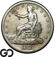1875 S TRADE DOLLAR HIGHLY DEMANDED SILVER $ SERIES