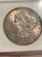 1900 TOP 100 MORGAN SILVER DOLLAR $1 NGC MINT STATE 64 VAM-11 DDR ARROWS TONED