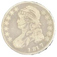 1817 CAPPED BUST HALF DOLLAR. LETTERED EDGE. YOU GRADE