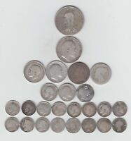 PRE 1920 BRITISH SILVER  .925  25 COINS  2/6 3DS  WEIGHT 75.