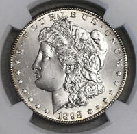 1898-S MORGAN SILVER DOLLAR  , NGC UNC. DETAILS CLEANED