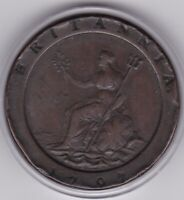 1797  LARGE  COPPER     KING  GEORGE  III   TWO   PENNY  COI