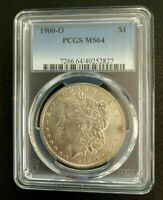 1900-O PCGS MINT STATE 64 MORGAN SILVER DOLLAR $1 COIN -- UNCIRCULATED