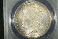 1885 MORGAN DOLLAR, ANACS MINT STATE 64,  COLOR