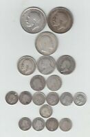 PRE 1920 BRITISH SILVER  .925  19 COINS  2/6 3DS  WEIGHT 74.