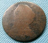 1789 HALFPENNY CONVICT TOKEN   WILLIAM DAVIS OLD BAILEY DEAT