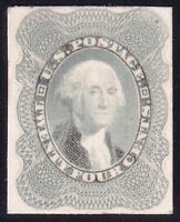 US STAMP 45P4  1857  24C  PLATE PROOF ON CARD STAMP