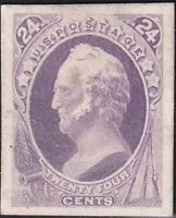 US STAMP 164P4  1874 75  24C  PLATE PROOF ON CARD STAMP