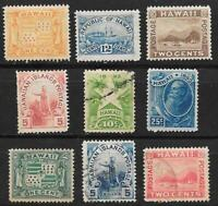 USA HAWAII 1894 99 SCOTT 74 82 LAST SETS OF STATE STAMPS SEE