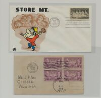 US   2 FDC'S LOT  109