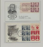 US   2 FDC'S LOT  114