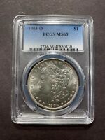 1903 O MORGAN SILVER DOLLAR PCGS MINT STATE 63 CHOICE S$1 COIN COLLECTION SET