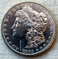 1883-S MORGAN SILVER DOLLAR  GORGEOUS AND UBER SHARP