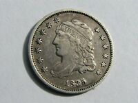 1835 CAPPED BUST SILVER HALF DIME 5 CENT, SMALL DATE, SMALL 5