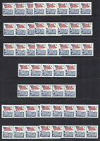 USA 2609 WHOLESALE LOT OF 17 PLATE NUMBER COIL STRIPS OF 5