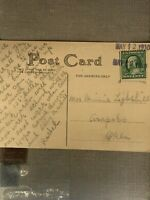 BENJAMIN FRANKLIN GREEN ONE CENT STAMP ON A 1910 POSTCARD NO