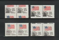 US EFO ERROR STAMPS: 1895 FLAG. MINI COLLECTION OF FOUR DIFF