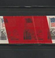 US ERROR STAMPS: 1895D FLAG COURT. IMPERF 2 SPLICES PRINTED