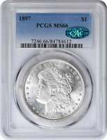 1897 MORGAN SILVER DOLLAR MINT STATE 66 PCGS CAC